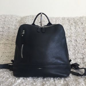 Shinola Mini Zip Charcoal Black Leather Backpack